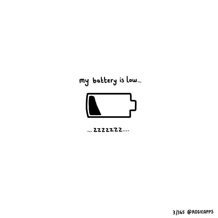 3365 Battery Low A Drawing A Day 2017 Illustration By