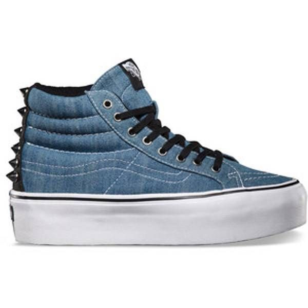 b48b190fd03c VANS SK8-HI PLATFORM STUDDED BLUE T WHITE MENS   WOMENS SHOES AUSTRALIAN  SELLER
