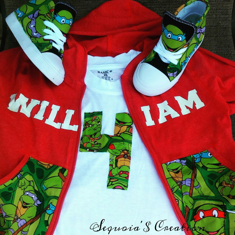 Hoodies Teenage Ninja Turtles Inspired Children Personalised Clothing
