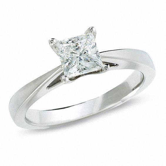 Celebration Lux 174 1 Ct Princess Cut Diamond Solitaire