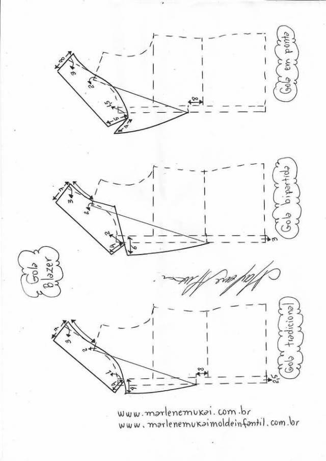 Variación tipos de cuellos | Curiosidades | Pinterest | Costura ...
