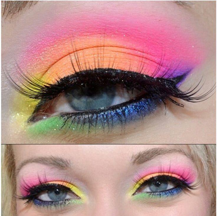 Cute Rainbow Eyeshadow Makeup Pinterest Rainbows Pride Makeup Colorful Eye Makeup Eye Makeup