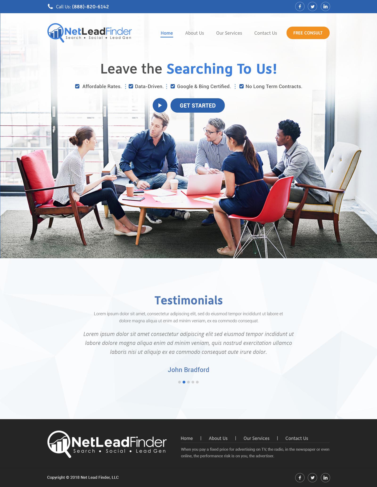 Design 59 By Digitalgrowth Create A New Website Design For Internet Marketing Company News Website Design Internet Marketing Company Page Design