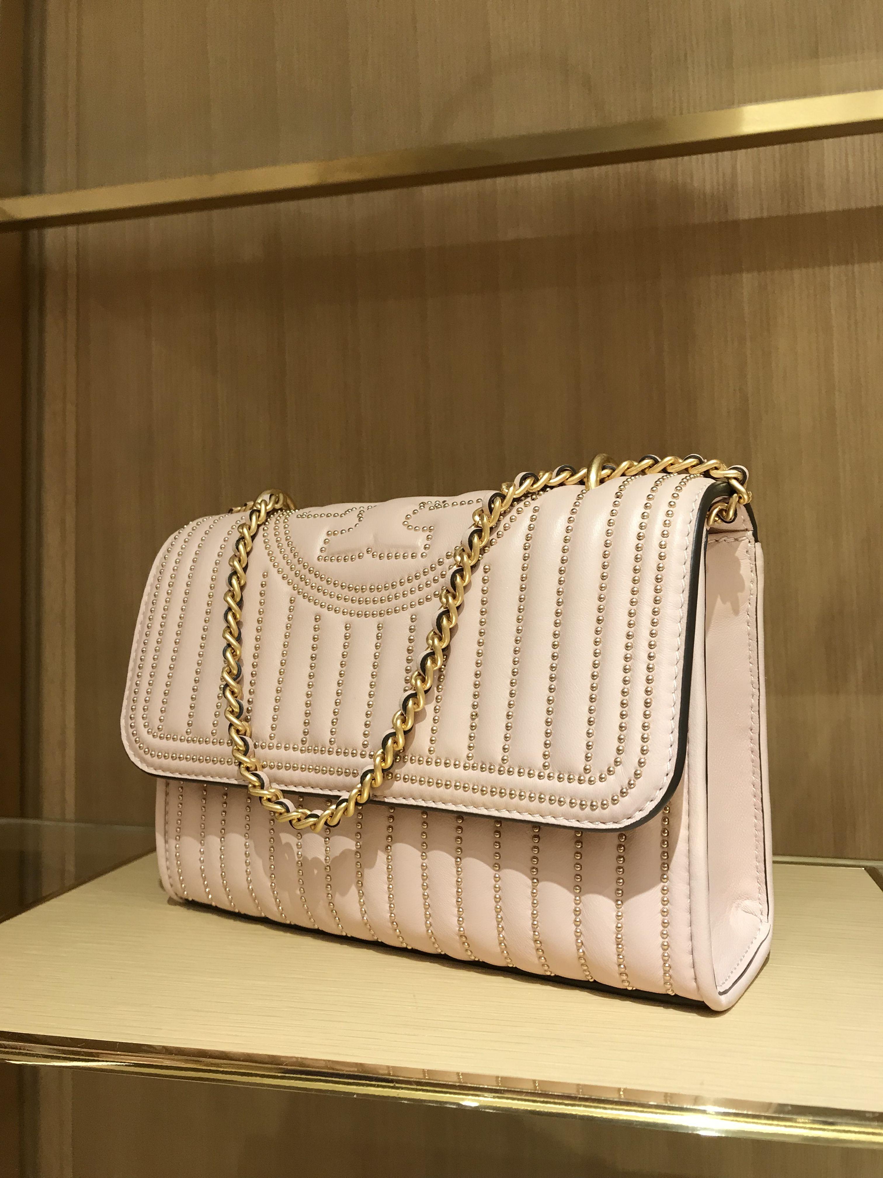b5985d1b10 Fleming Mini Stud Convertible Shoulder Bag Shell Pink | Tory Burch ...