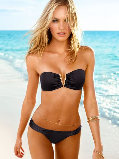 victoria 39 s secret very sexy v wire bandeau top with ruched side bottom my style pinterest. Black Bedroom Furniture Sets. Home Design Ideas