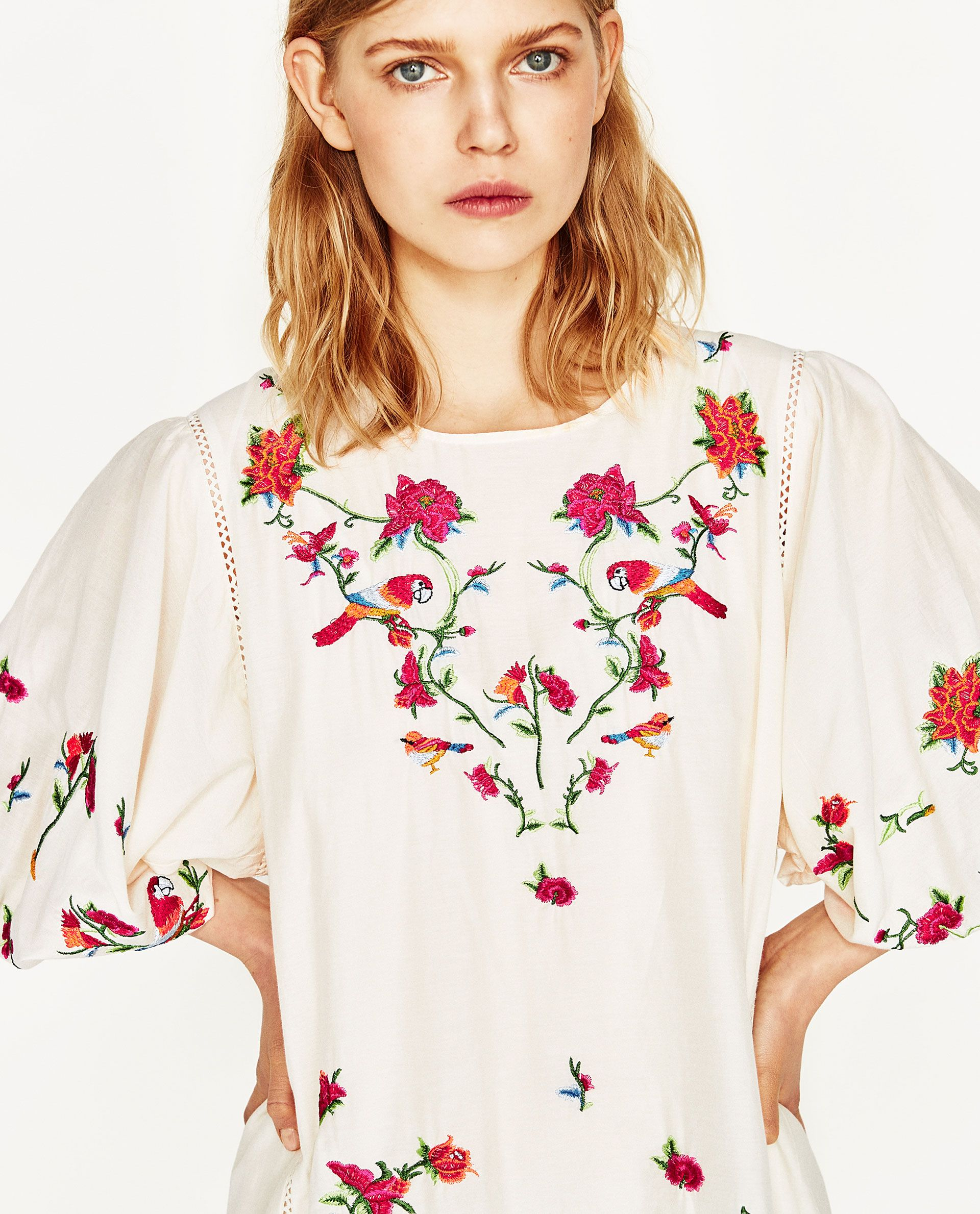 8011be1fba7928 Image 5 of FLORAL EMBROIDERED DRESS from Zara | Wish List | Floral ...