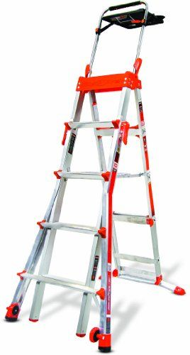 Select Step 5 Feet To 8 Feet 300 Pound Duty Rating Adjustable Step Ladder Step Ladders Little Giants Ladder