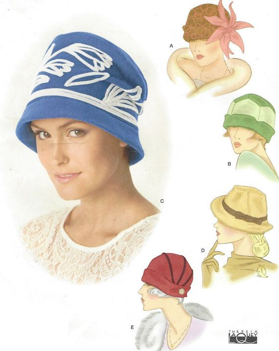 Theresa Laquey Womens Retro Hats in Three Sizes Simplicity Sewing ...