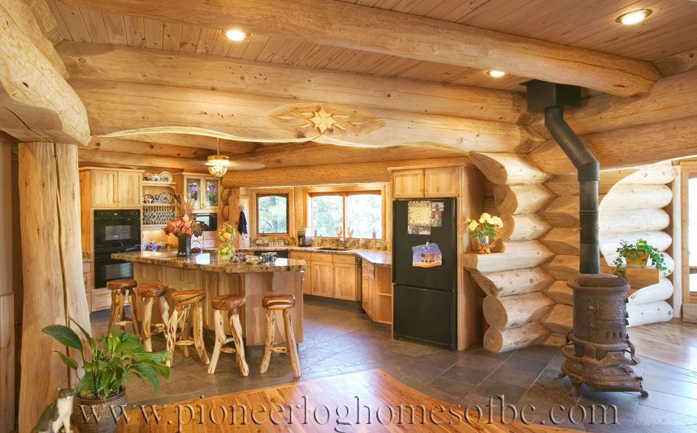 log homes kitchen dining image gallery pinterest chalet. Black Bedroom Furniture Sets. Home Design Ideas