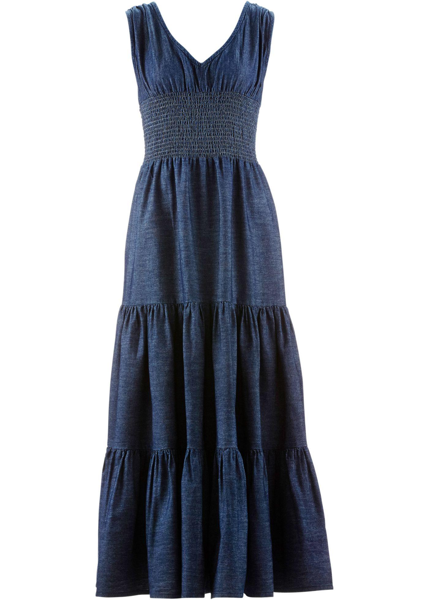 Jeanswear Şimdi Mavi Koyu Maxi Baner Taşlanmış Elbise Jean John xHwC6