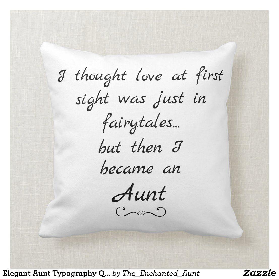 Elegant Aunt Typography Quote Throw Pillow  Zazzle.com in 5
