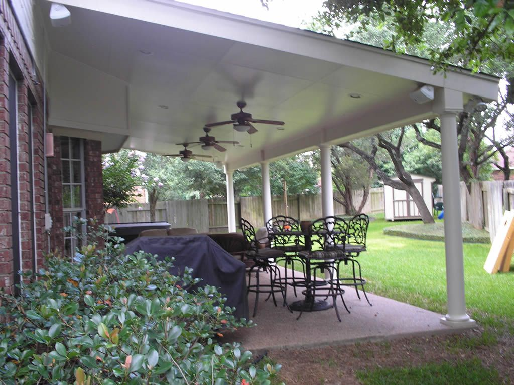 Covered patio designs for the home pinterest covered for Back patio porch designs