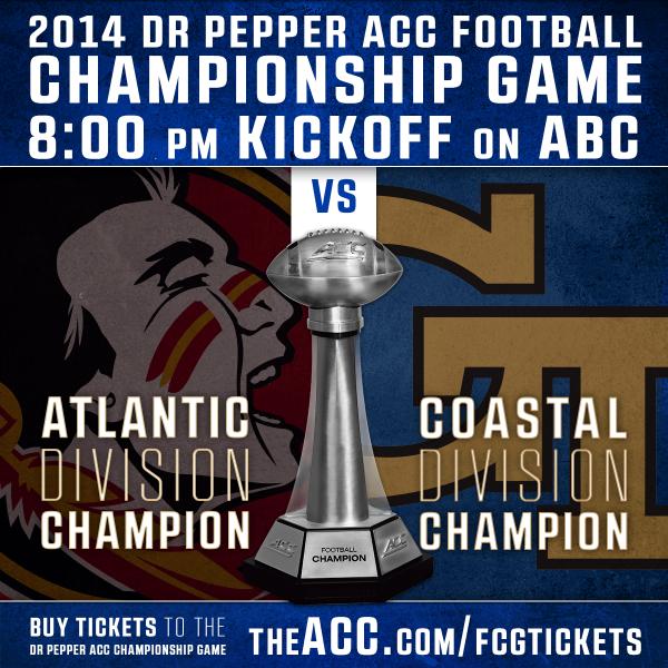 2014 Dr Pepper ACC Championship Game FSU vs. Tech