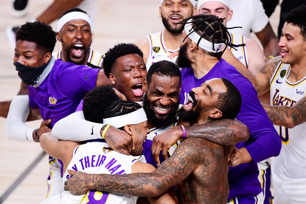The Coronation Had Just Started For King James And His Lakers The Purple And Gold Confetti Was Still Glittering In The W In 2020 Lakers Win Lebron James Nba Champions