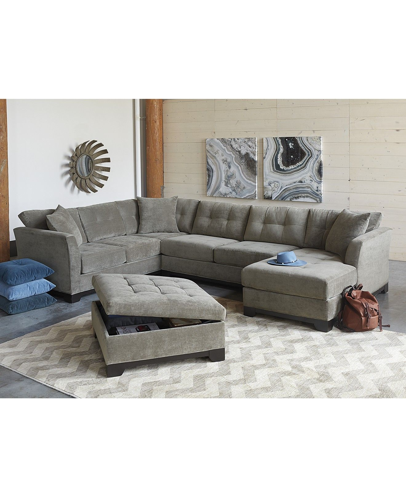 Elliot Fabric Sectional Living Room Furniture Collection Living. Elegant Living Room Furniture Sets. .