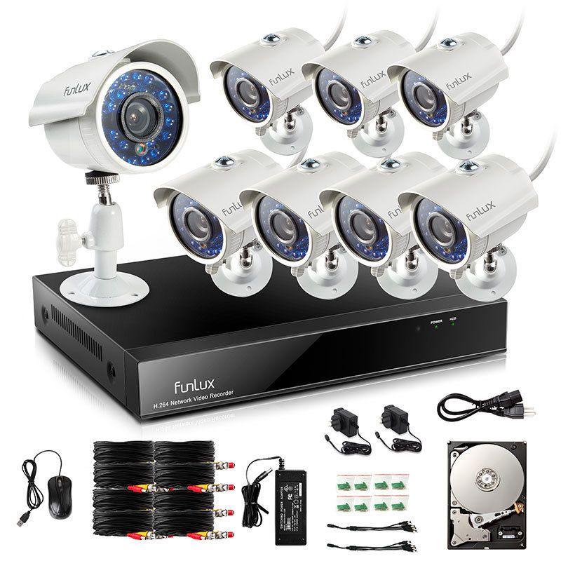 Funlux 8ch 960h Dvr 700tvl Cctv Home Surveillance System