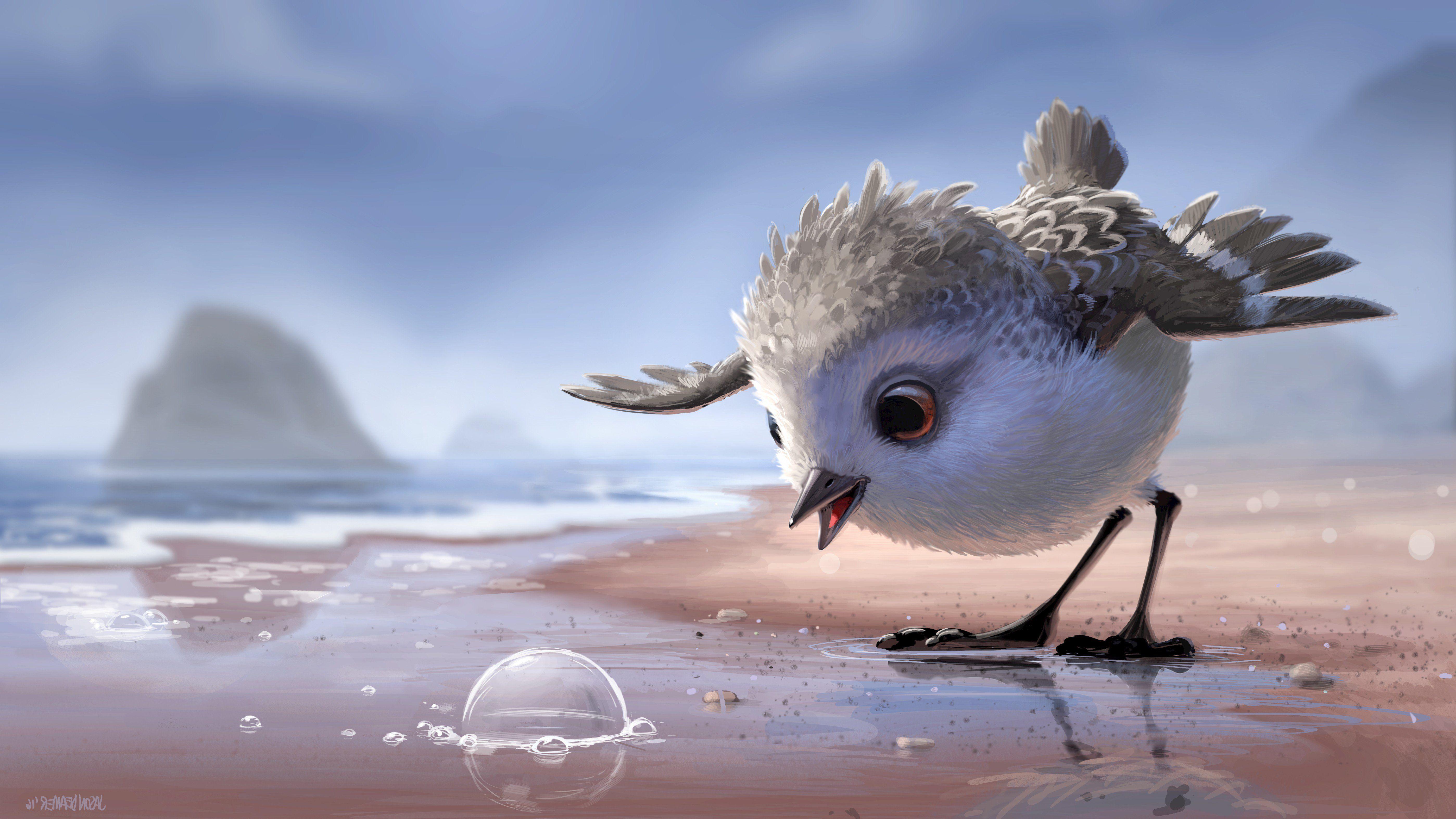 Piper pixar animated movie 5594 3144 disney for Fond ecran qhd