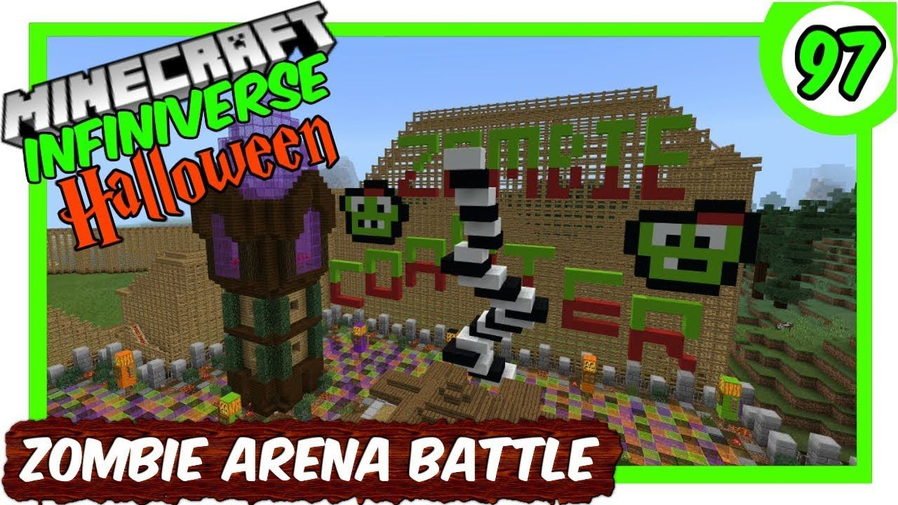 How To Make A Xp Farm In Minecraft Bedrock Zombie Spawner Arena Battle Part 2 97 Minecraft Bedrock Infiniverse Minecraft Arena Zombie