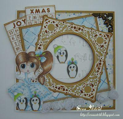 Crea Astrid: Doorkijkkaart kerst.