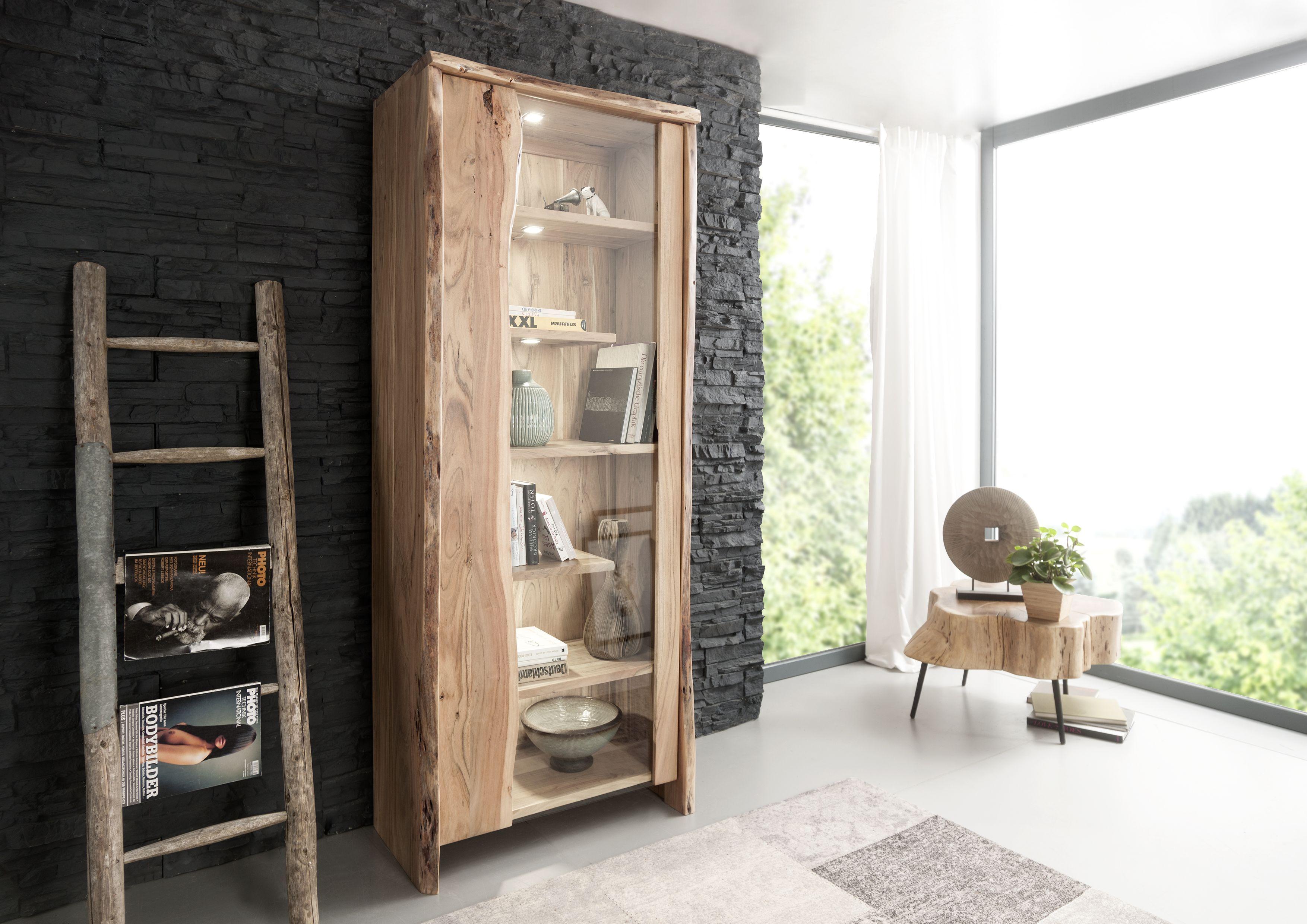 baumkanten design live edge akazie massivholz pinterest m bel holz vitrine und regal. Black Bedroom Furniture Sets. Home Design Ideas
