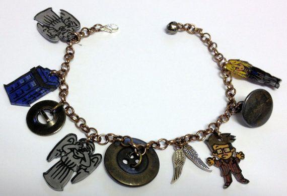Shrinkles  Doctor Who  Blink charm bracelet by LovelyRuthies, £10.00