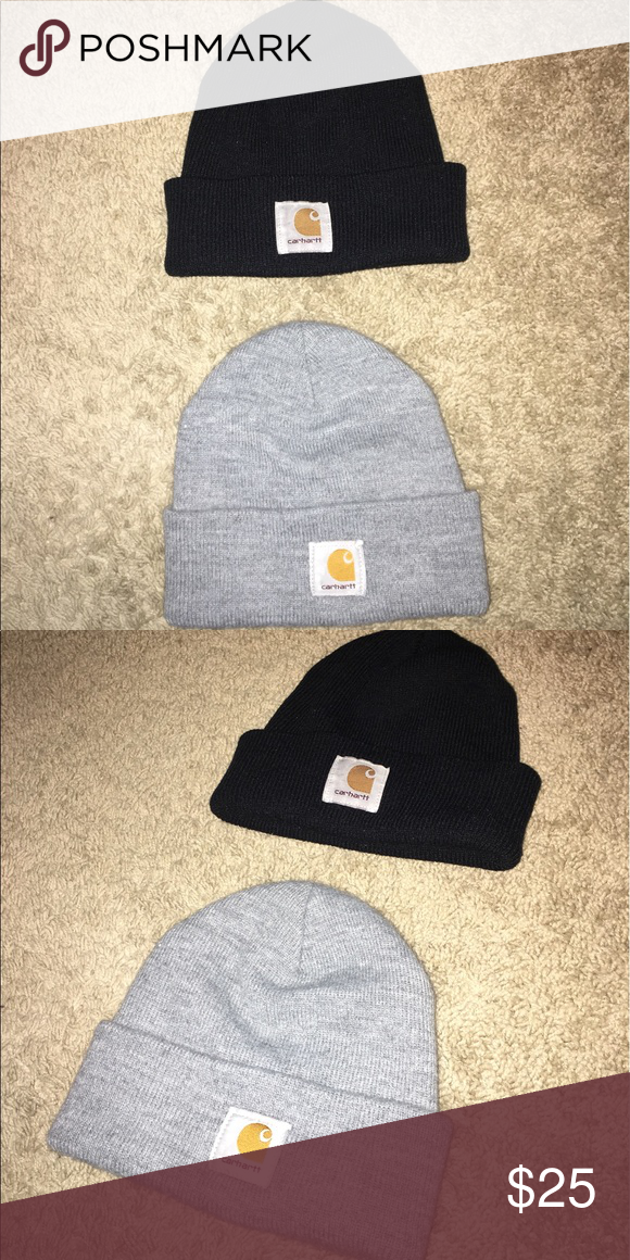 46cfeaae0b5 Carhartt Beanie Black   Gray Carhartt Beanies 2 for 18 or 1 for 10  Carhartt  Accessories Hats
