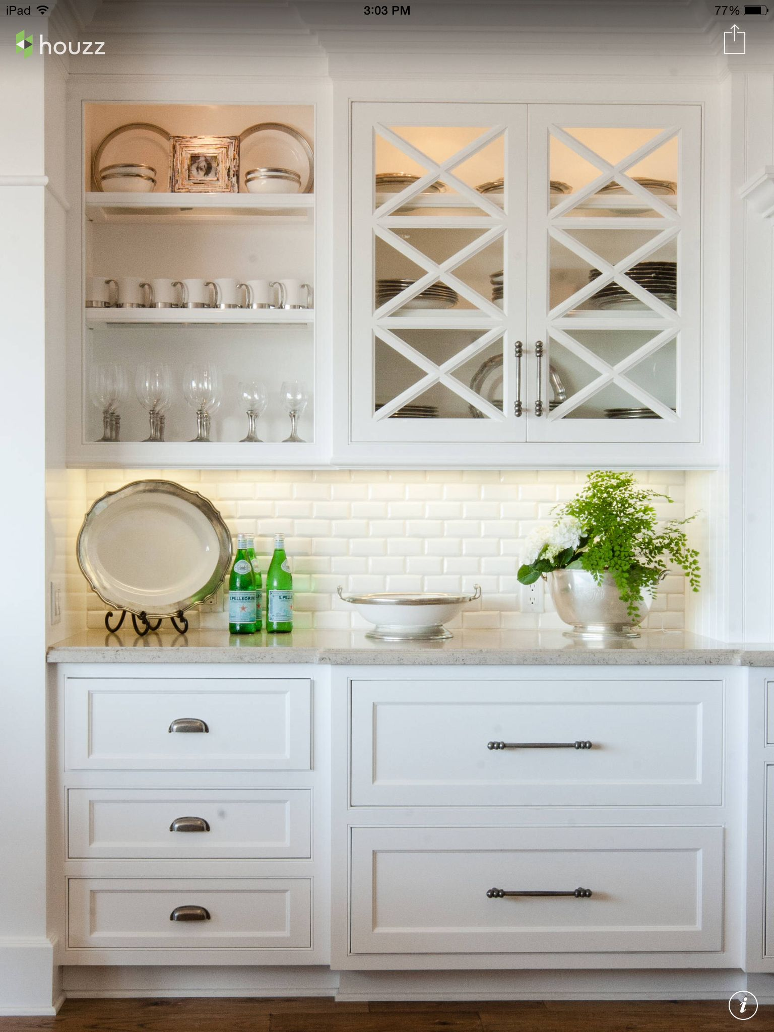 Subway tile and white cabinets | Mom\'s Kitchen | Pinterest | White ...