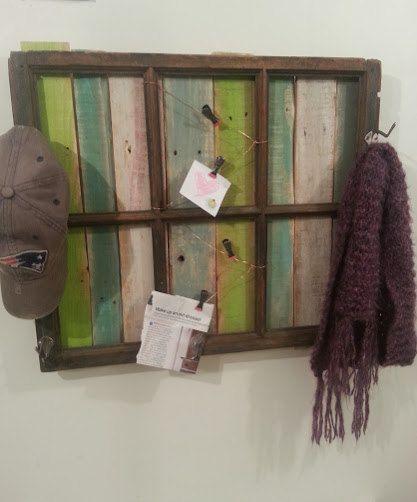 antique-window-frame-pallet-wood-memo   Antique window ...