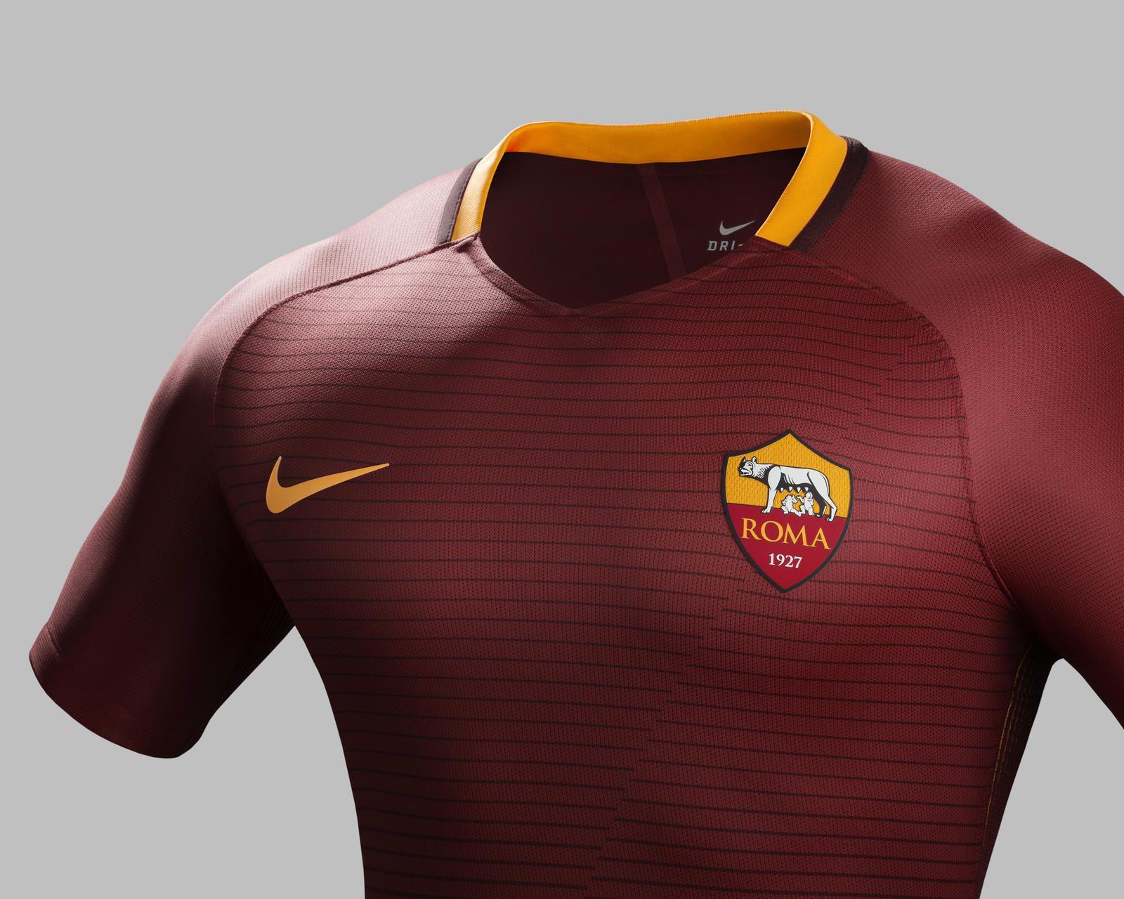 Camisas da AS Roma 2016-2017 Nike 2 31e5ac8bd470f