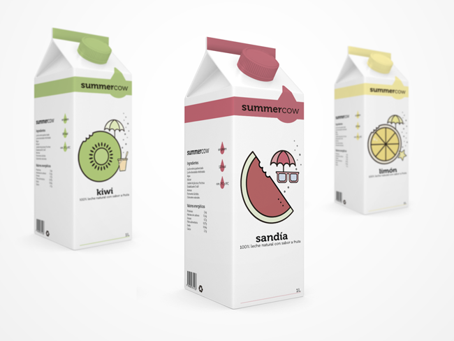 Summercow Milk (Concept)   Packaging of the World: Creative Package Design Archive and Gallery
