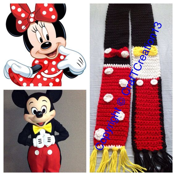 nueva colección c704e c7006 Minnie Mouse & Mickey Mouse inspired Scarf | Mickey & Minnie ...