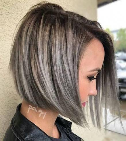 Trendy Hair Grey Silver Highlights Ash Blonde Ideas -   14 hair Grey bob ideas