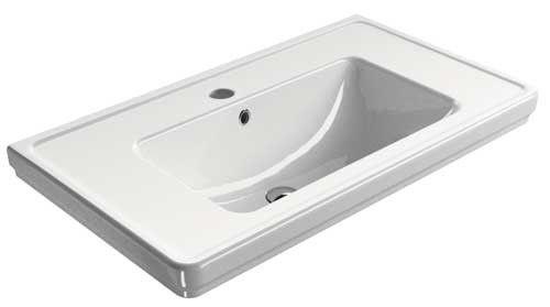 Wasbak 90 Cm : Ben muret wastafel cm wit badkamer