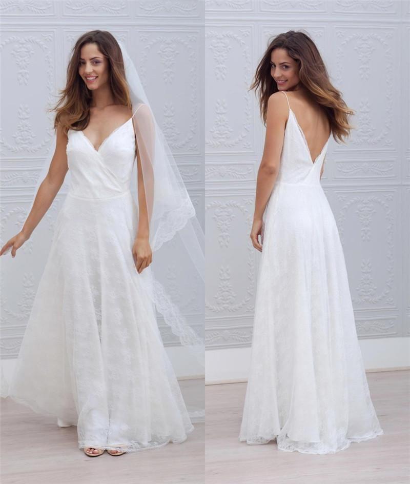 Informal Wedding Dresses Charming Beach A Line Wedding Dresses 2015 ...