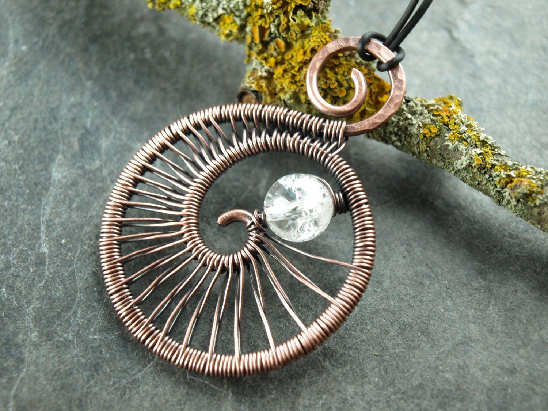 Anhänger,pendant,wire work,Kupfer,Spirale von KlimmBimm auf Etsy ...