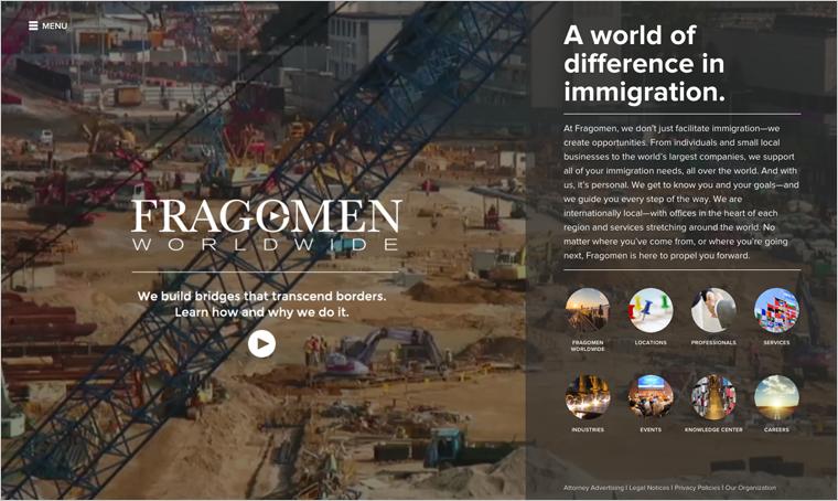 Fragomen Law Firm Website Design Example Lawyer Website Design