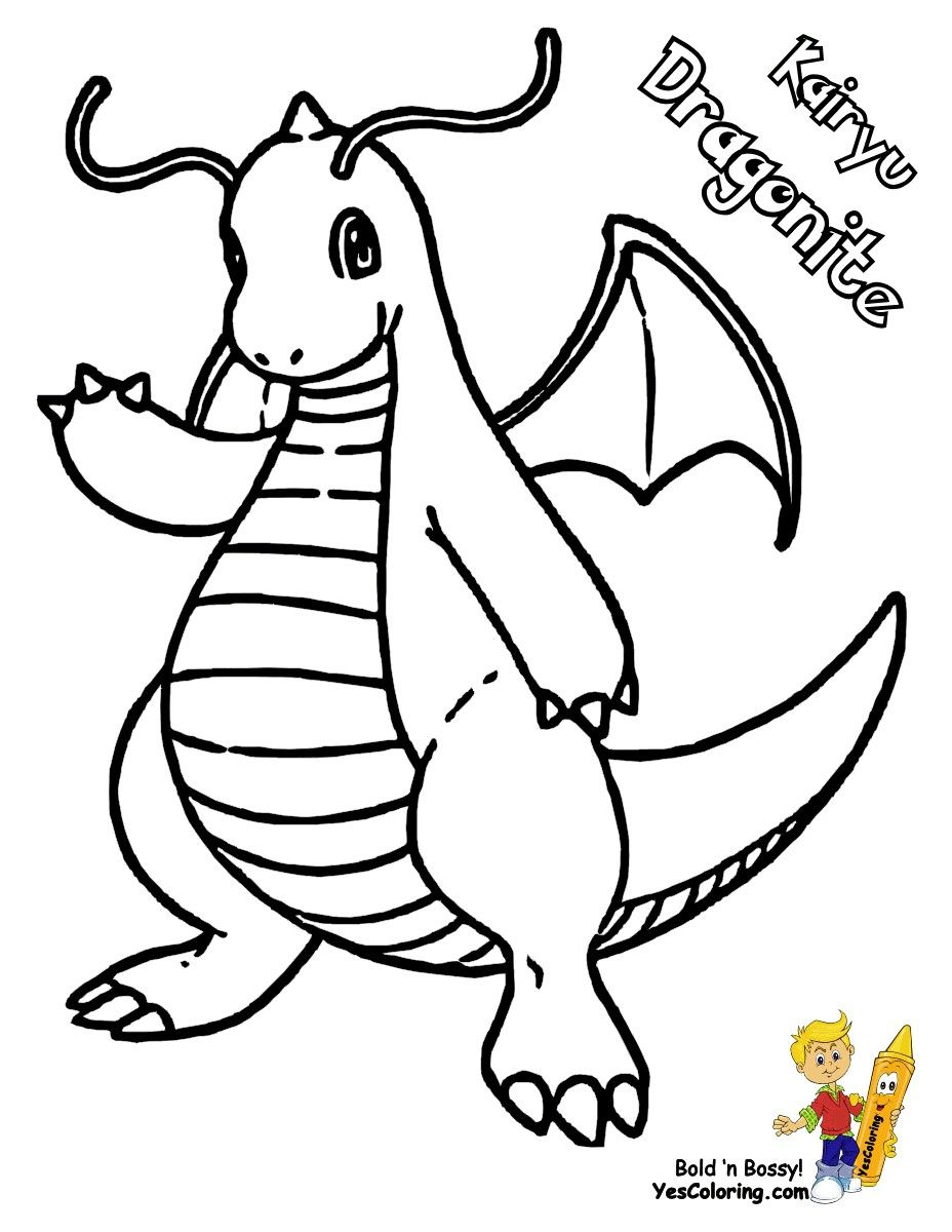 Pokemon Dragonite Coloring Pages Through The Thousands Of Photos On Web Regarding