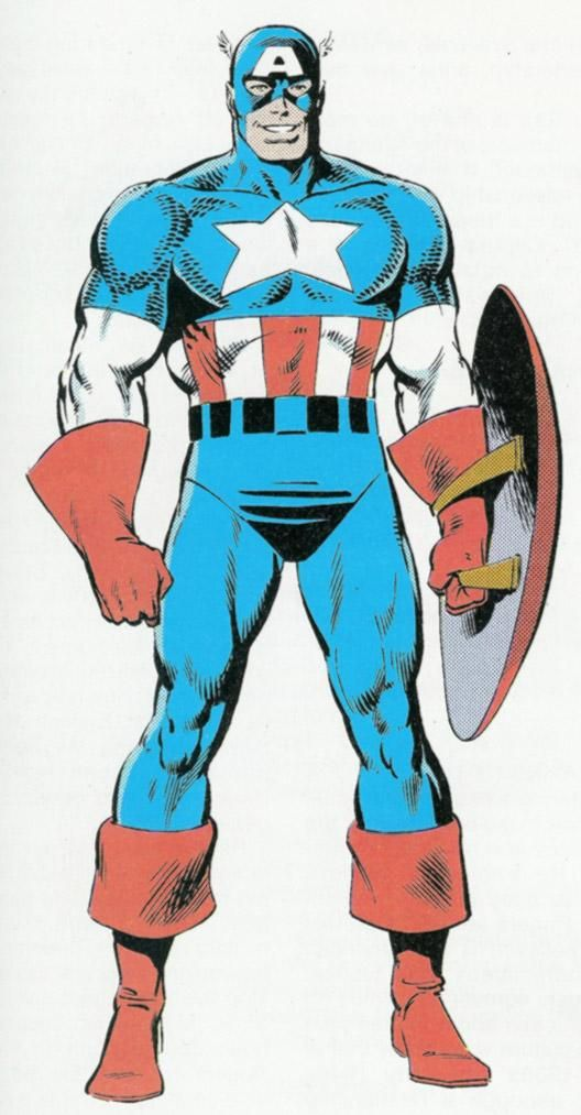 Silver age captain america art by mike zeck
