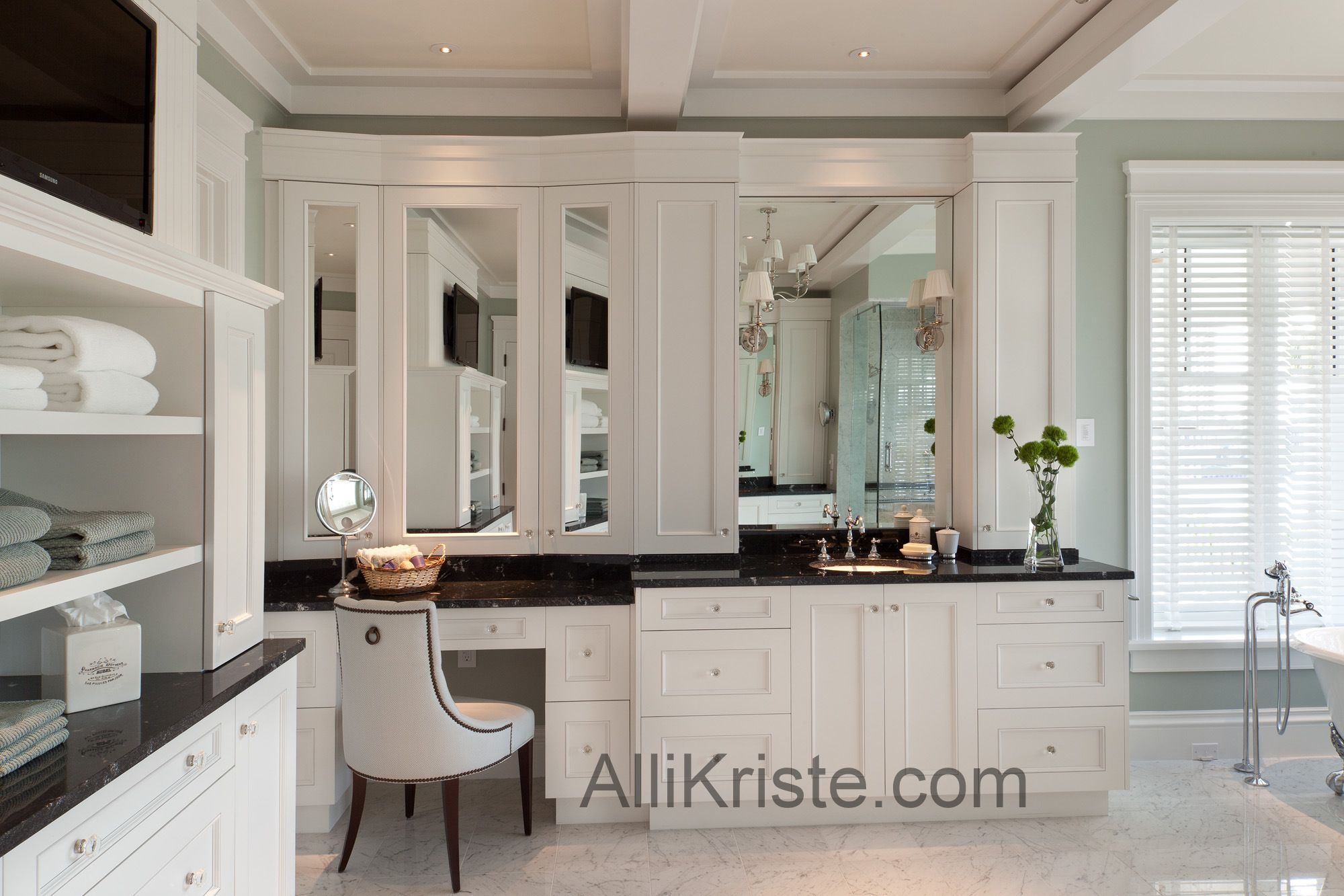 Custom Cabinetry for your Master Bathroom! #design #cabinets