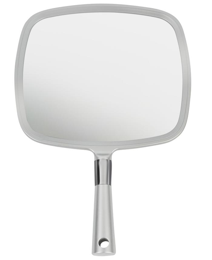 Mirrorvana Large Comfy Hand Held Mirror With Handle 2018 Silver Salon Model Mirror Handheld Mirror Personal Mirror