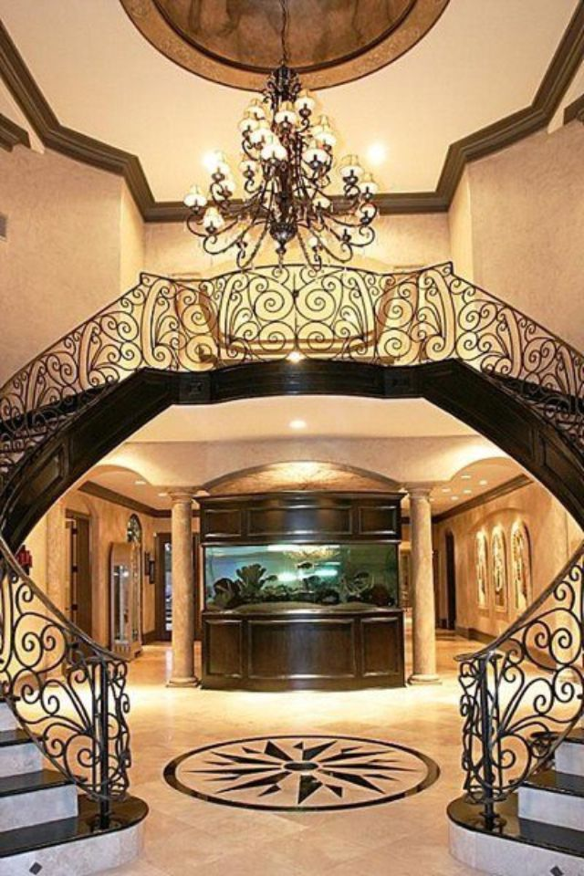 Best Love This And The Fish Tank Home Double Staircase House 640 x 480