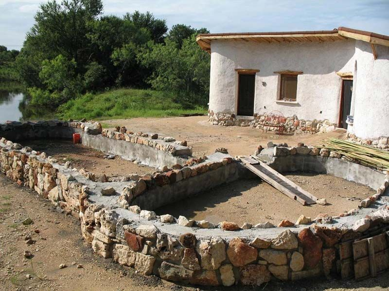 Fruthbrown stone foundation work cob construction for Cordwood house cost