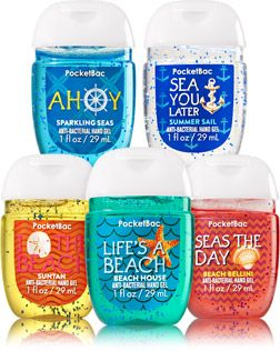 Seaside Scents 5 Pack Pocketbac Sanitizers Soap Sanitizer Bath