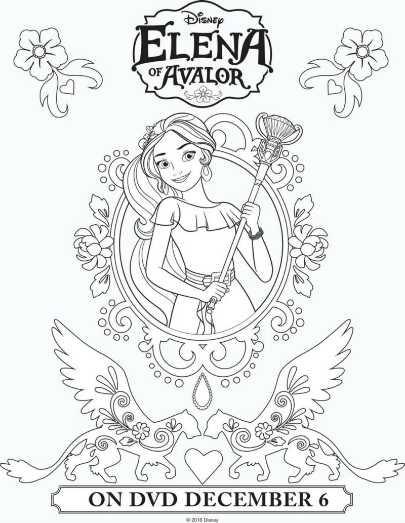 Free coloring pages elena of avalor