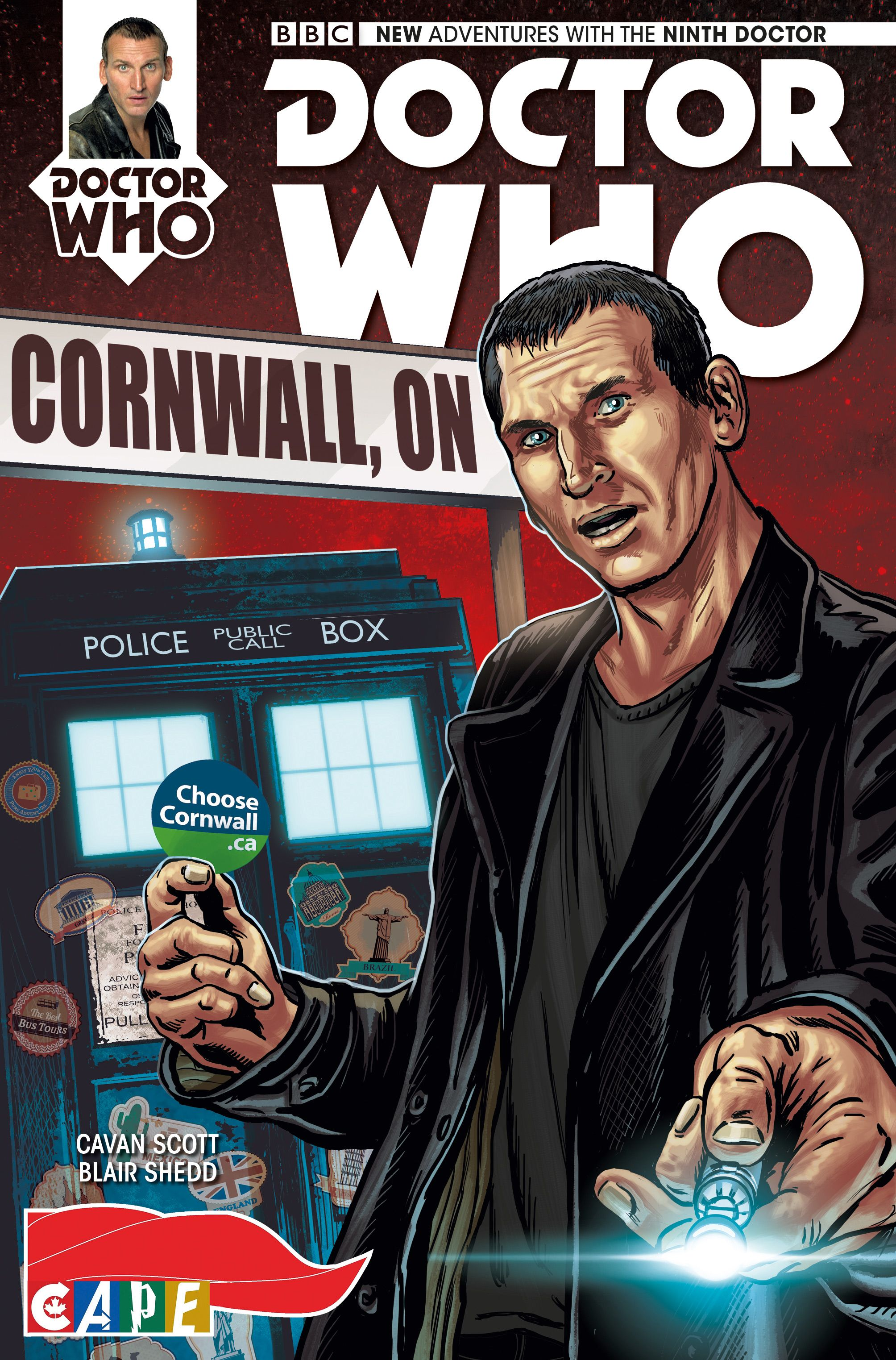 Ninth Doctor Issue #1 variant: Cornwall
