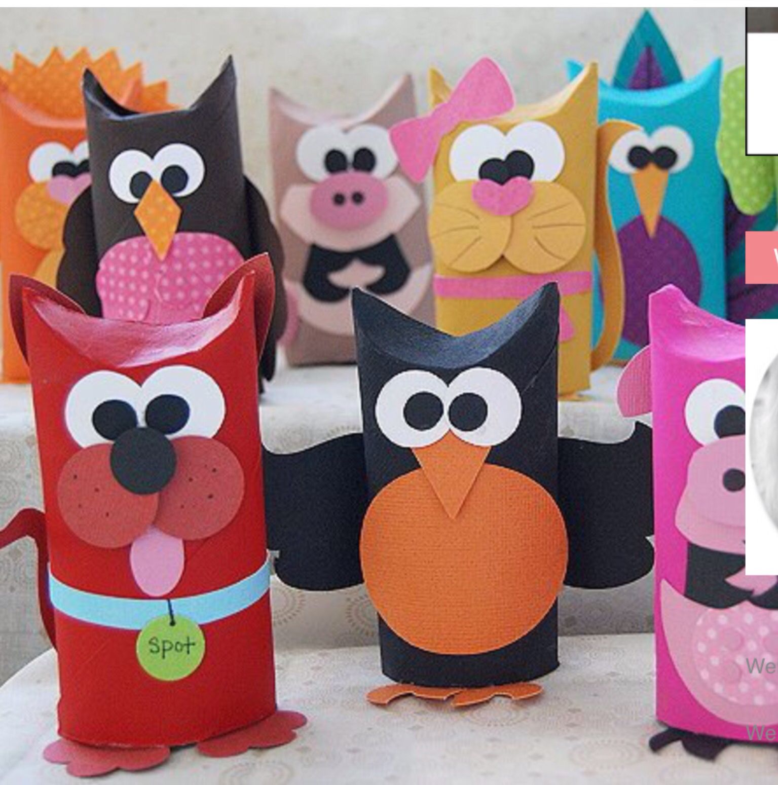 Vaak Super Cute Toilet Paper Roll Animals | Crafts | Knutselen wc rol @FC43