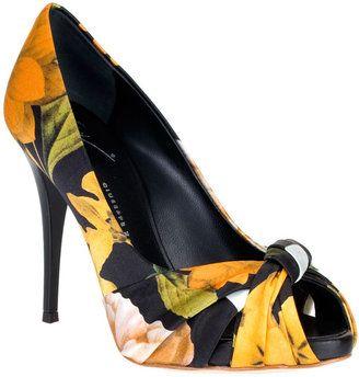 ShopStyle: Giuseppe Zanotti Satin flower peep toe pump SUMMER SPECIAL!