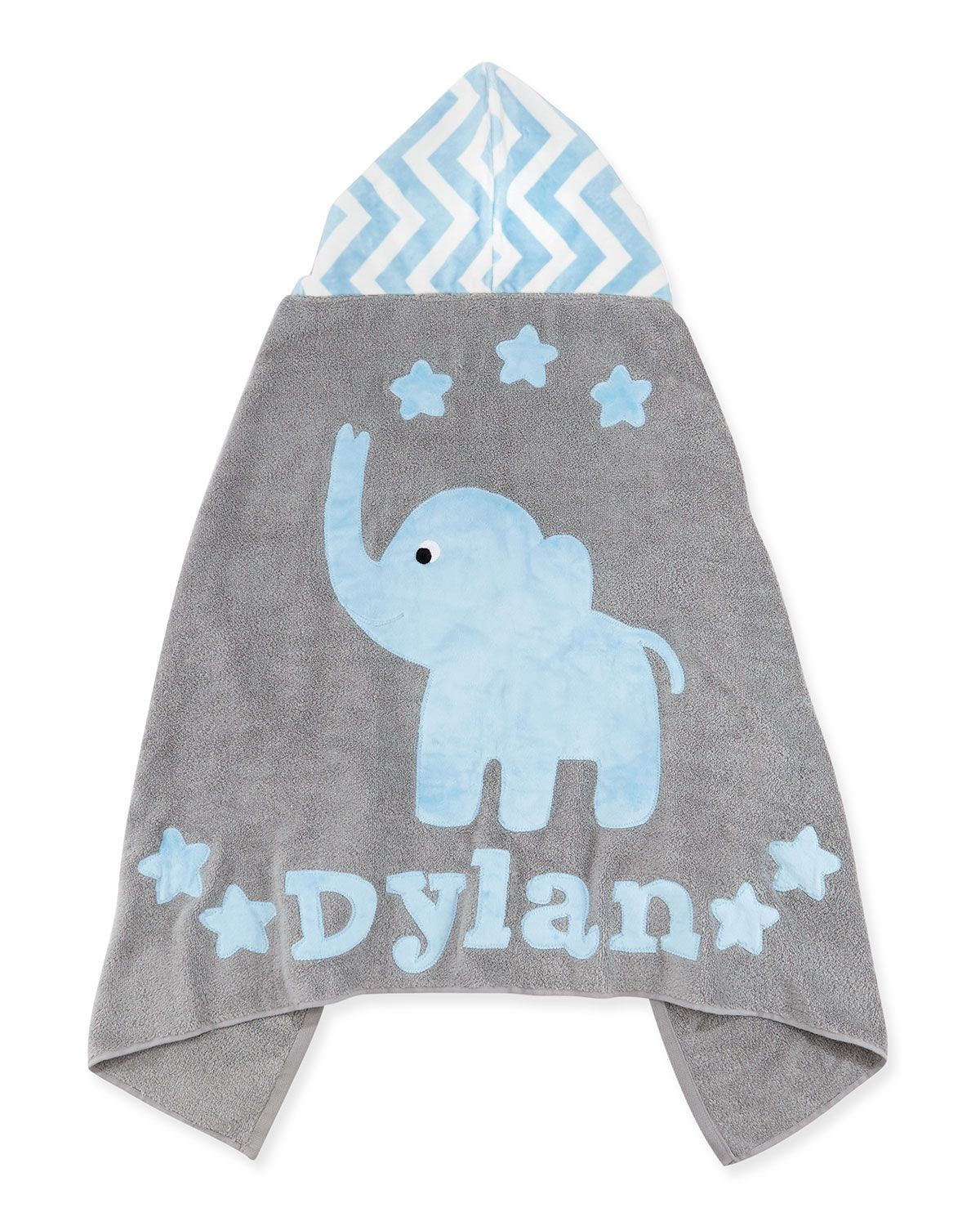 Personalized big foot elephant hooded towel blue boogie personalized big foot elephant hooded towel blue boogie baby negle Image collections