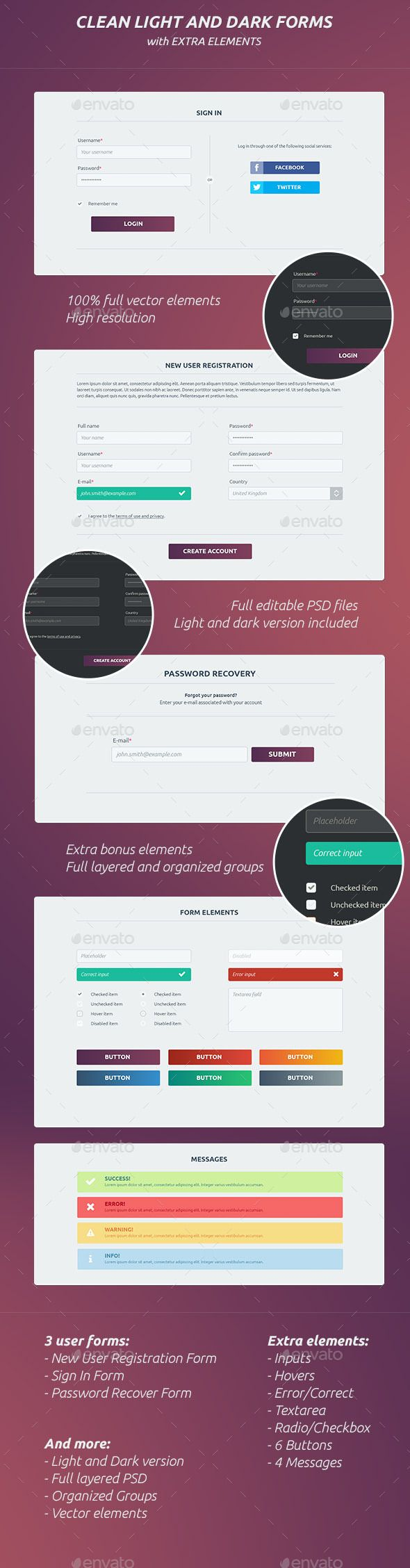 Clean Light And Dark Forms #design Download: http://graphicriver ...