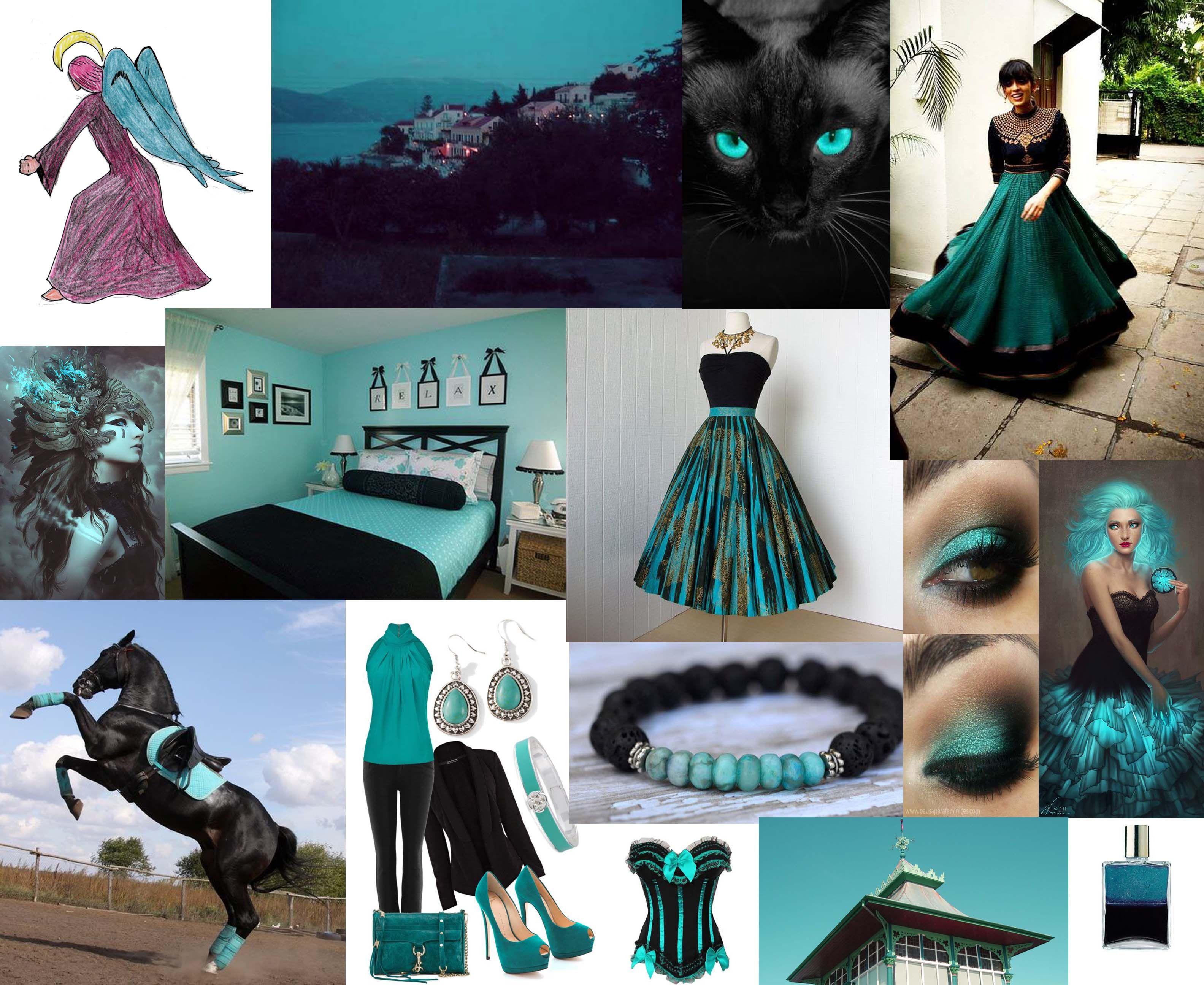 Julie Howlin Aura Soma Inspiration Equilibrium bottle #107 Archangel Tzaphkiel Turquoise/deep magenta